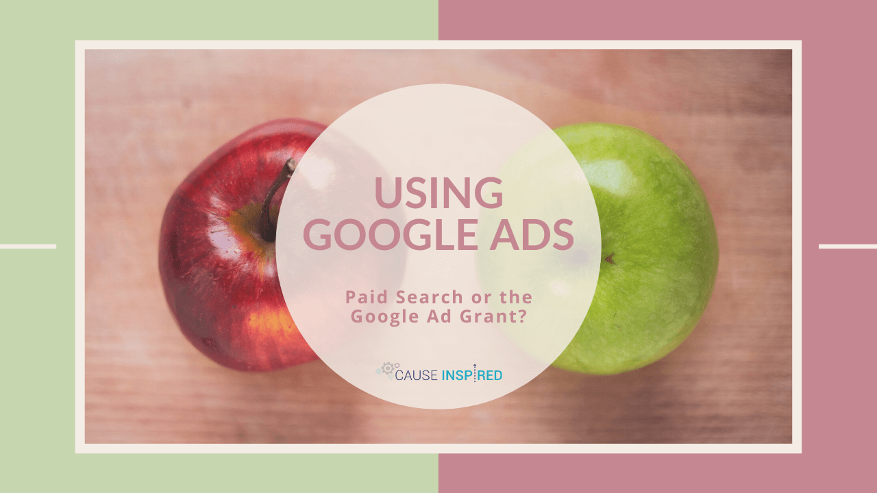 using google ads paid search or google ad grant