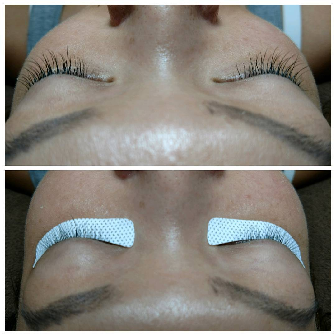 Before and after applying #eyelashextensions on a new friend yesterday. She owns #beehivesalon in Chicago