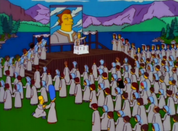 """The Simpsons """"The Joy of Sect"""" / The Leader"""