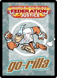 Go-Rilla collectible postcard