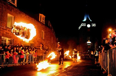 The Stonehaven Fireballs - December 31, 2014. Picture by COLIN RENNIE