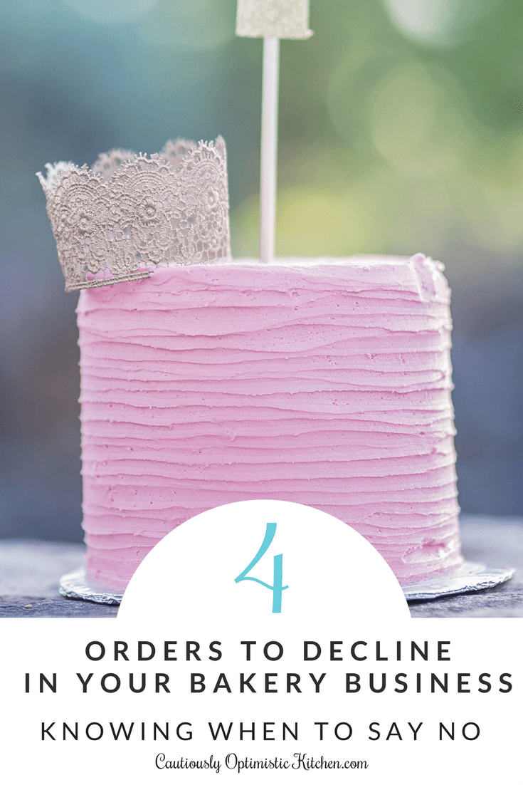 Stop! Read this before you take another order! When to say no in your bakery business.