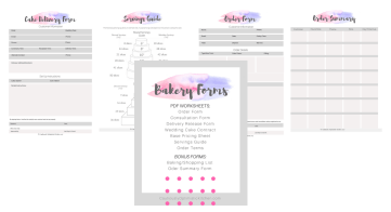 Get your bakery organized with this bakery forms packet.