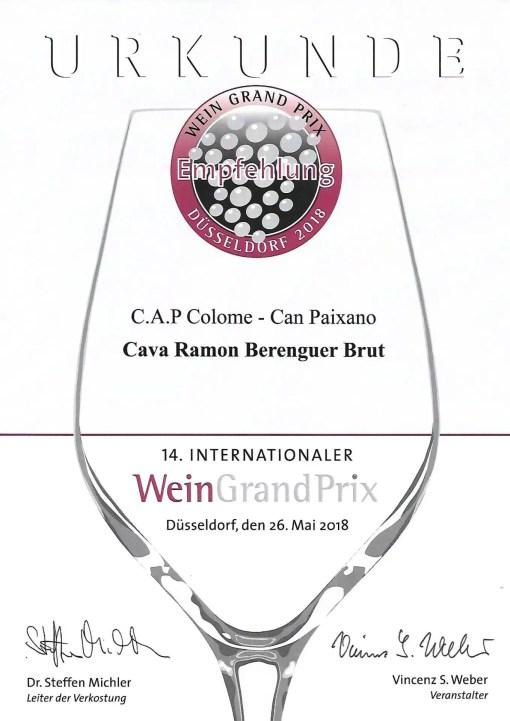 Cava Brut Wein Grand Prix Empfehlung 2018