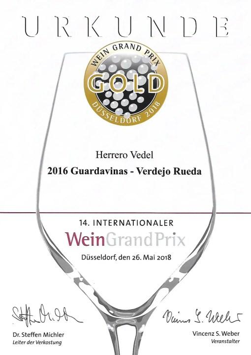 Goldmedaille Wein Grand Prix Verdejo
