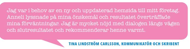 Tina Lindström Karlsson, kommunikatör och skribent, Skribenttina.se