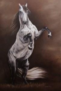 A Mineira Raquel Fernandes Pinta Cavalos Desde Que Se Entende Por