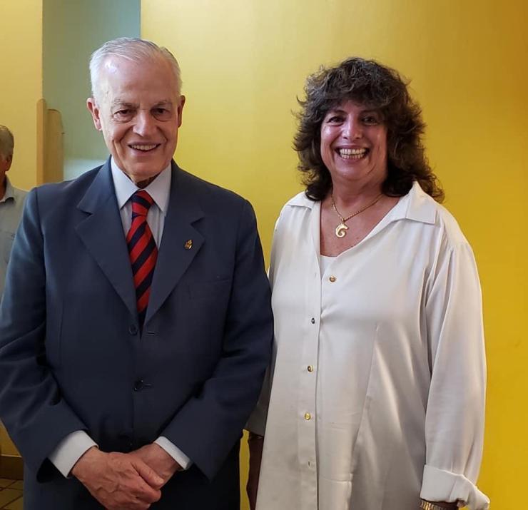 Dom Bertrand e Marina Iorio