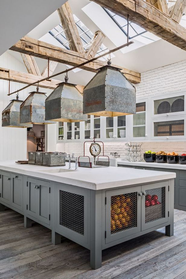 Use uma ilha no meio da sua cozinha