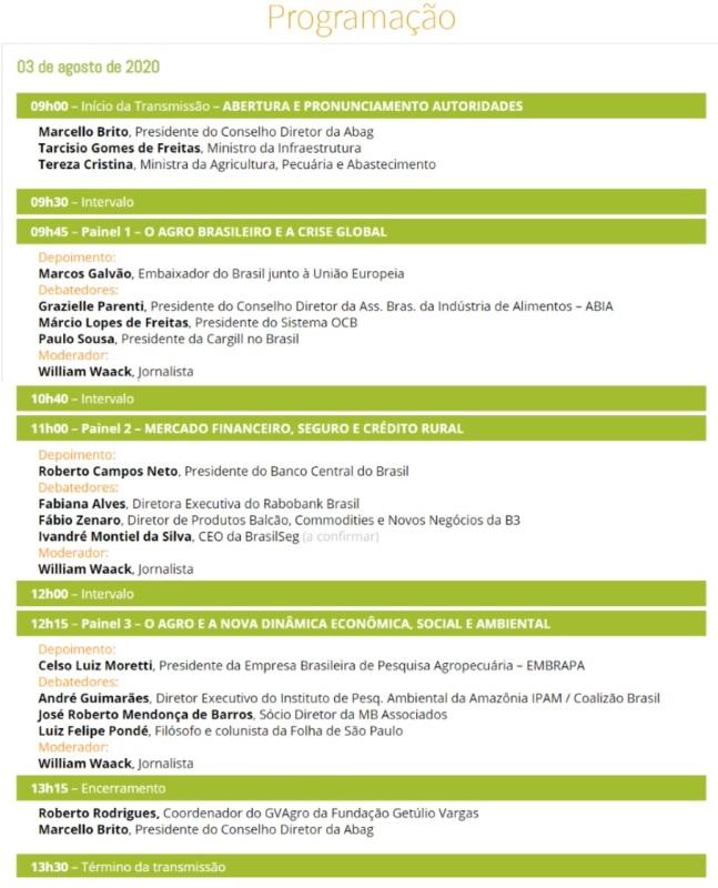 Congresso Brasileiro do Agronegócio trata dos desafios do setor. O evento, acima de tudo, apontará os caminhos para o agro depois da pandemia