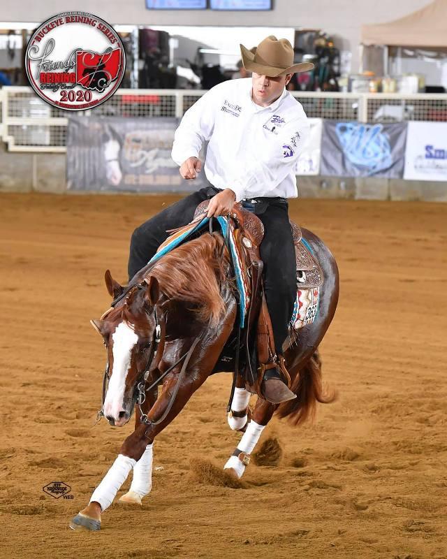 A sexta vitória para Rodrigo Taboga e Sanctus em 2020 foi durante evento da Pacific Coast Cutting Horse Association