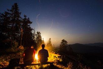 Pohodička pri ohni na Smrekovici
