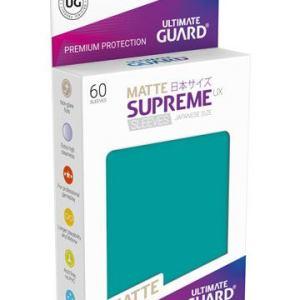 Ultimate Guard 60 pochettes Supreme UX Sleeves format japonais Bleu Pétrole Mat