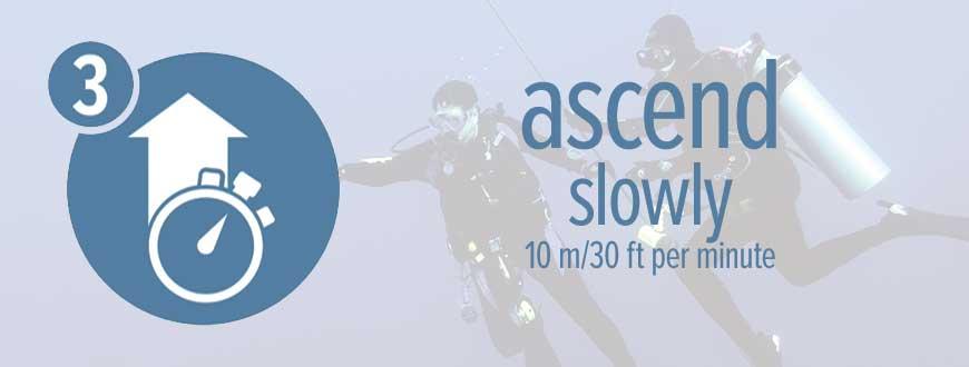 Ascend slowly