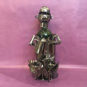 CB jardinier rotated - Cache bouteille métal jardinier