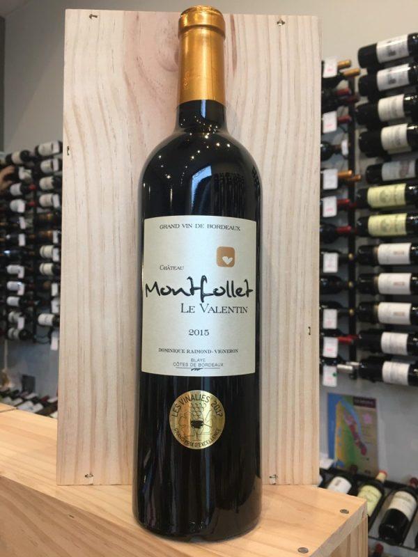 MONTFOLLET RGE 2015 rotated - Château Montfollet le Valentin rouge 2015 - Blaye Côtes de Bordeaux 75cl