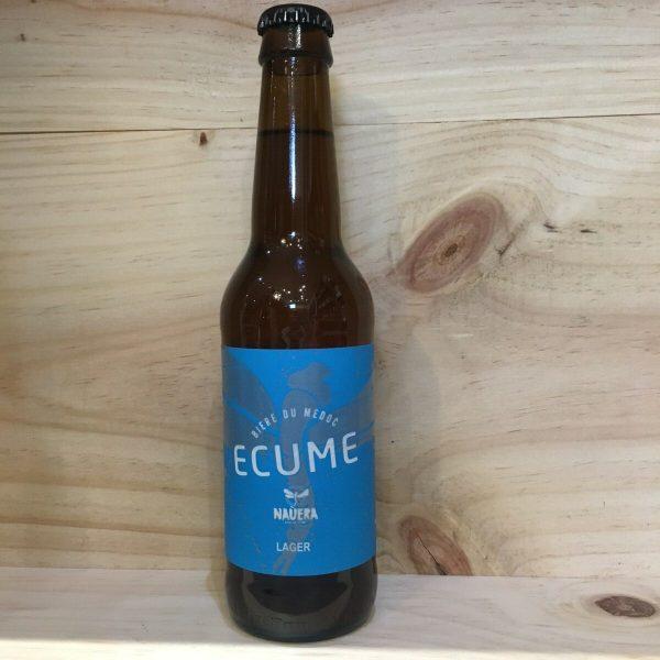 ecume 1 rotated - Ecume 33 cl - Nauera - bière blonde lager BIO