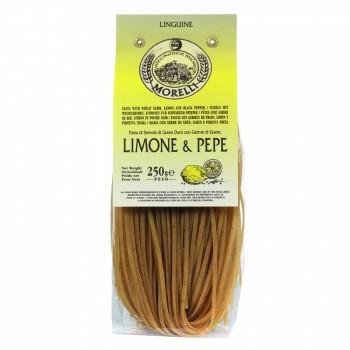 linguine citron - Linguine citron et poivre Morelli 250 gr