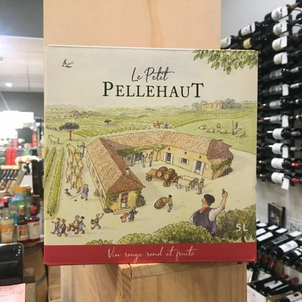 bib pell rouge carre rotated - BIB Pellehaut Harmonie rouge - Côtes de Gascogne 5 L