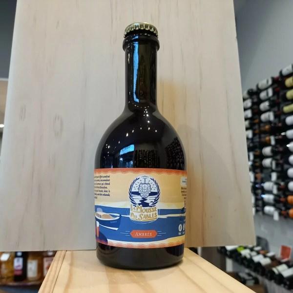 mousse ambree 0.730 - La Mousse des Sables 33cl - bière ambrée