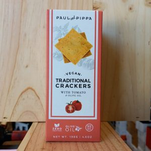 CRACKERS TOMATE rotated - Crackers à la tomate Paul et Pippa 130 gr