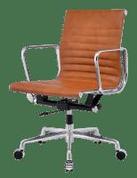 Eames EA 117 Bureaustoel Cognac Leer   Cavel Design