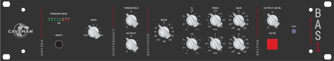 BAS1 Bass Preamp Rack