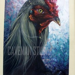 Cock - oil painting