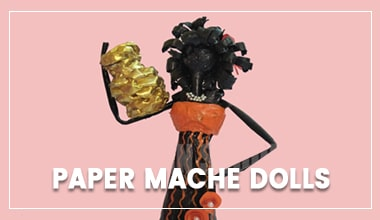 CaveMan Paper Mache Dolls