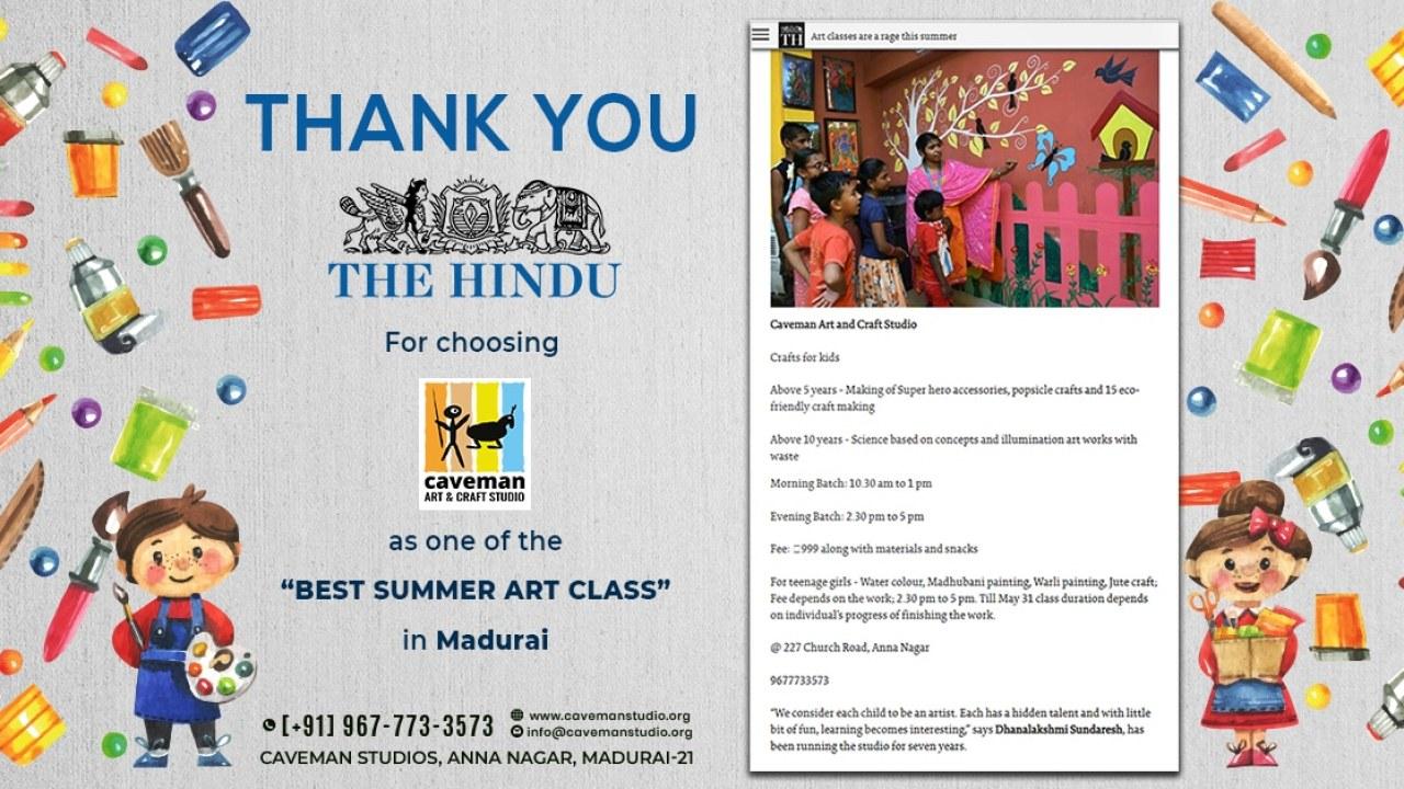 Best Summer Art Class Chosen By Hindu
