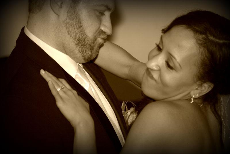 Couple enjoying their all inclusive wedding package at Cavender Castle