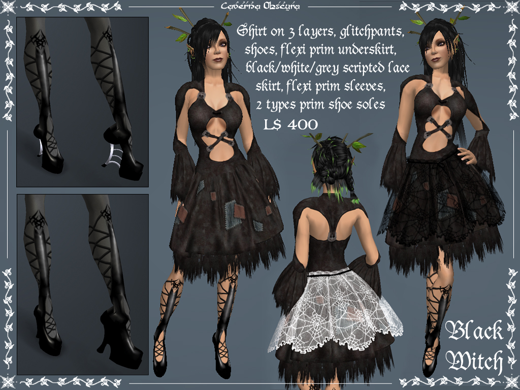 Black Witch Outfit by Caverna Obscura