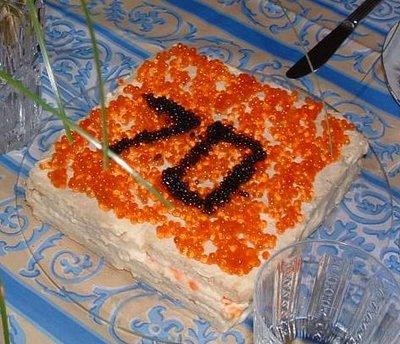 עוגה עם קוויאר