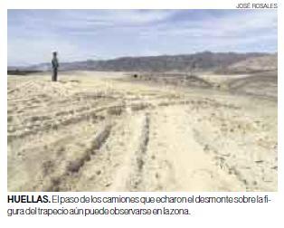Así es como quedan las líneas de Nazca después que los camiones y los trailers que no quieren pagar peaje por Nazca se desvían y arruinan el patrimonio histórico