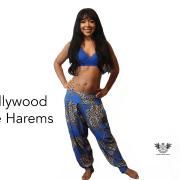 HOLLYWOOD BLUE HAREM Pants Stretch Fit Full