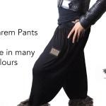 Plain Harem Pants Side