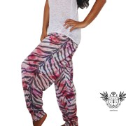 PINK TIGER HAREM PANTS SIDE