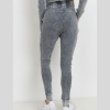 Cotton Waffle Mineral Wash Skinny Joggers - Back