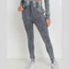 Cotton Waffle Mineral Wash Skinny Joggers - Cover