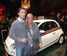 Grete Qviberg med son