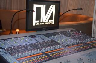 mixerbord på hotellets efterfest
