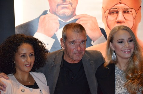 Kjell Bergqvist med fru och dotter