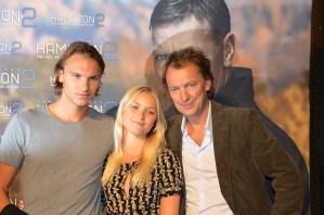Lennart Ekdal, med son Albin och sällskap