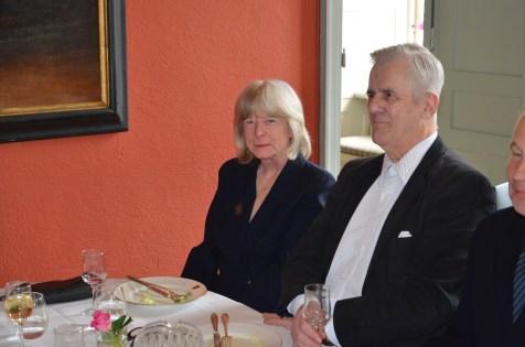 Skådespelerskan Kerstin Wolgers och sekreteraren i KAK/L Rio Sandström.