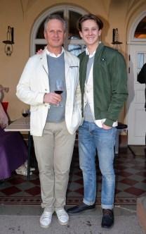 Jan Pfister med son