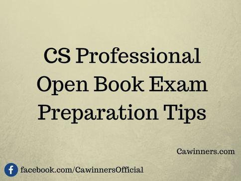 CS Professional Open Book Exam | Preparation Tips