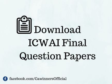 ICWAI Final Question Papers June 2015 to June 2013