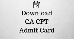 CA CPT Admit Card June 2017 icai.nic.in