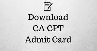 CA CPT Admit Card Dec 2017 icai.nic.in