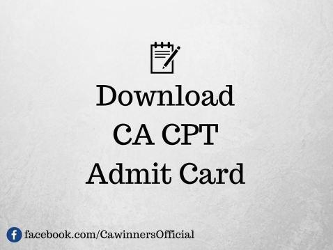 CA CPT Admit Card Dec 2015 | icai.nic.in